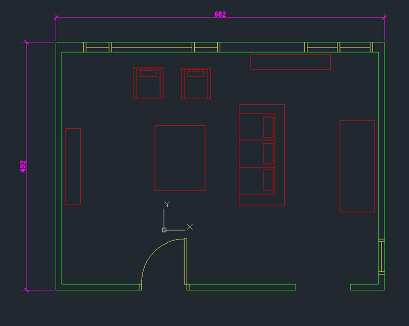 Living Room AutoCAD Drawing