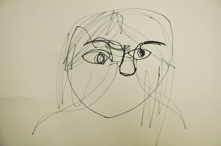 Contour Line Drawing Face : Taipei american school art department student gallery